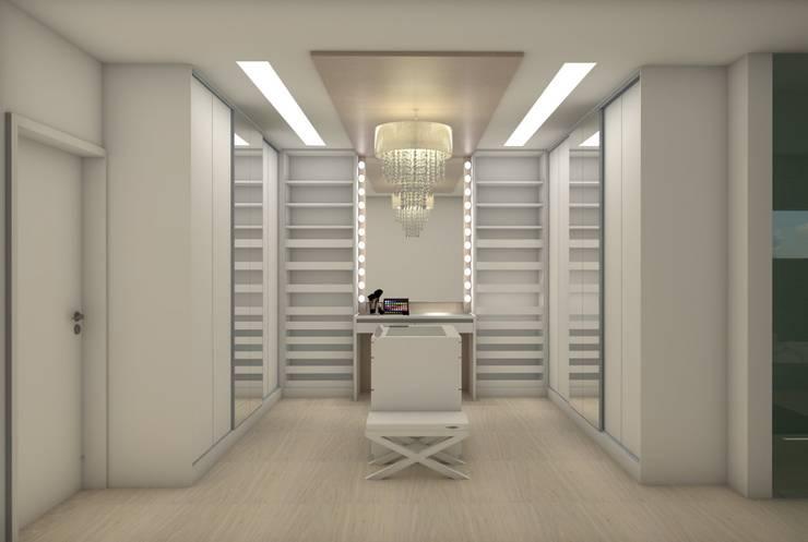 Minimalist dressing room by Matos Xavier Arquitetura Minimalist