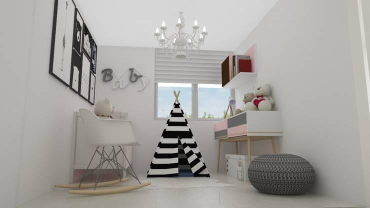 Habitacion bebe : Cuartos para bebés de estilo  por Naromi  Design