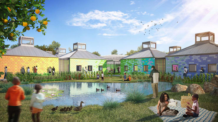 BELHAR CRECHE :  Garden by Kunst Architecture & Interiors