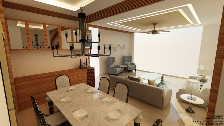 Dining Room:  Dining room by Pixilo Design