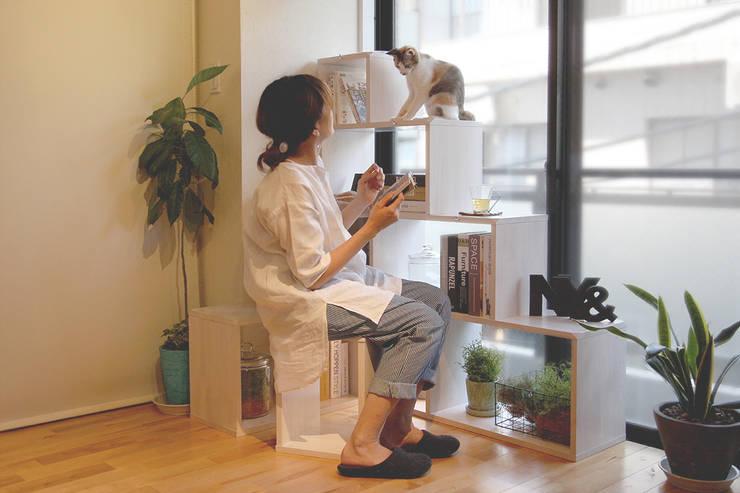 猫家具ニャンド NYAND SHELF - ROOT: &lodge inc. / 株式会社アンドロッジが手掛けた勉強部屋/オフィスです。