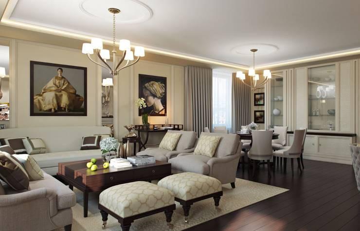 غرفة المعيشة تنفيذ Арт Реал Дизайн