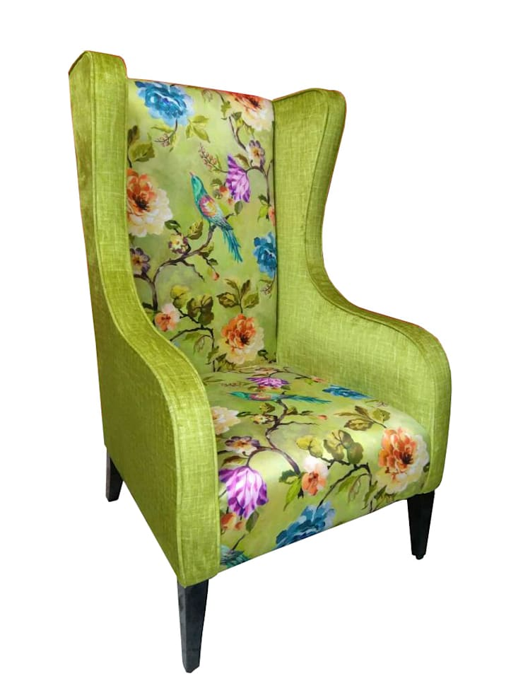 Green arm chair:  Dining room by Total Interiors Solutions Pvt. ltd.