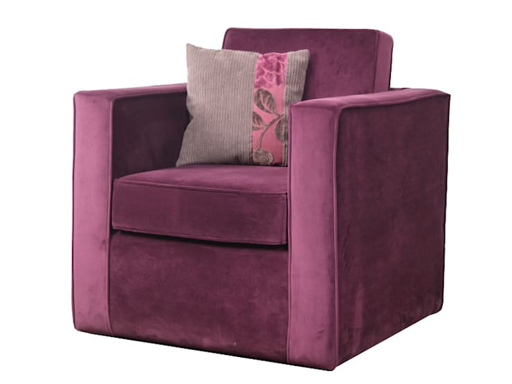 Single seater sofa:  Living room by Total Interiors Solutions Pvt. ltd.