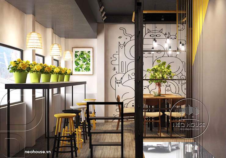 Thiết kế nội thất quán trà sữa:   by NEOhouse Architecture Construction Joint Stock Company