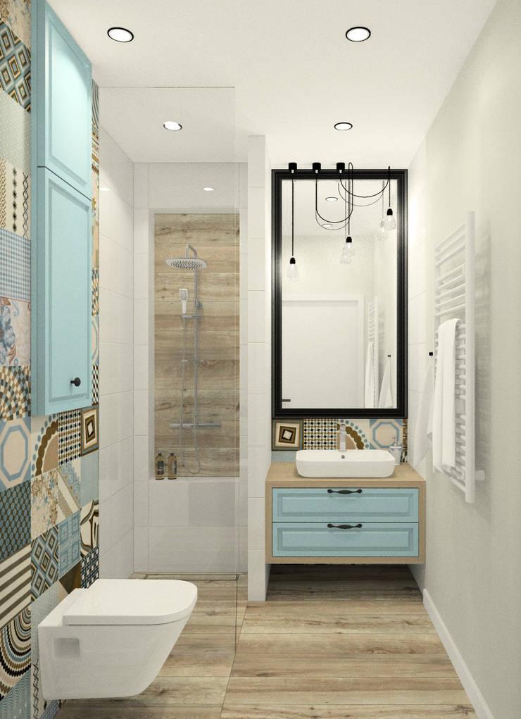 Mała Przytulna łazienka W Pastelowych Kolorach