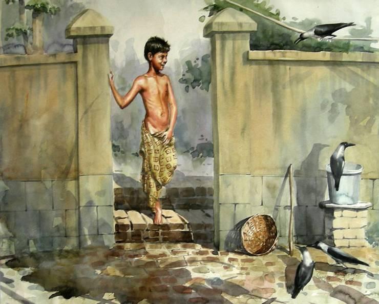 A Boy:  Artwork by Indian Art Ideas