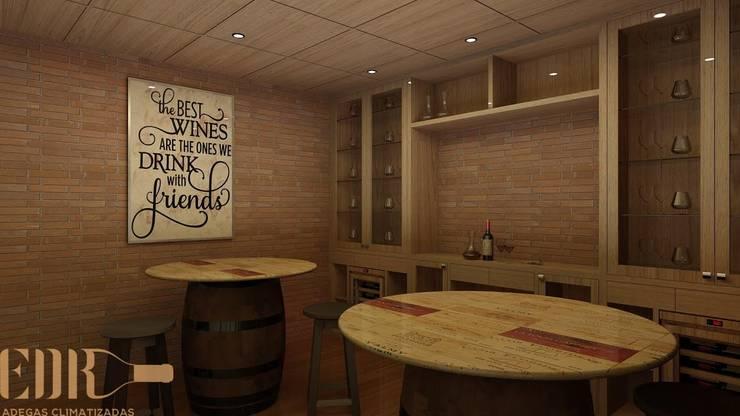Wine cellar by Edr Cristal - Adegas Climatizadas, Classic Wood Wood effect