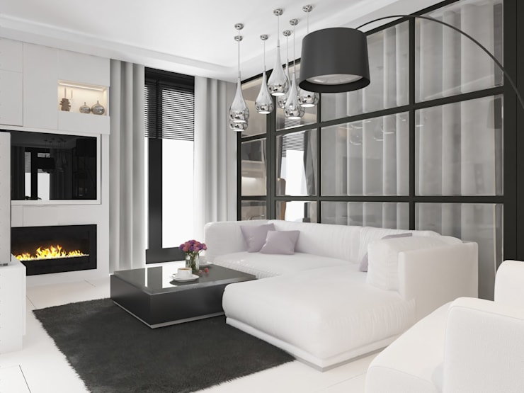 minimalistic Living room by Anastasia Yakovleva design studio