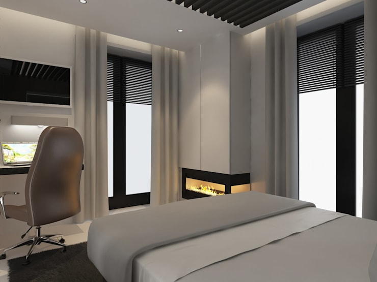 minimalistic Bedroom by Anastasia Yakovleva design studio