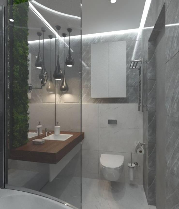 minimalistic Bathroom by Anastasia Yakovleva design studio
