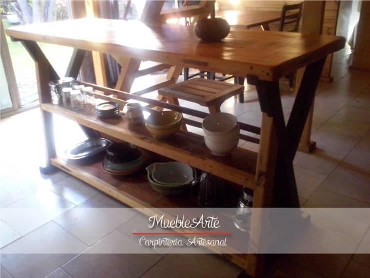 Barra Rustica:  de estilo  por MuebleArte,Rústico Madera Acabado en madera