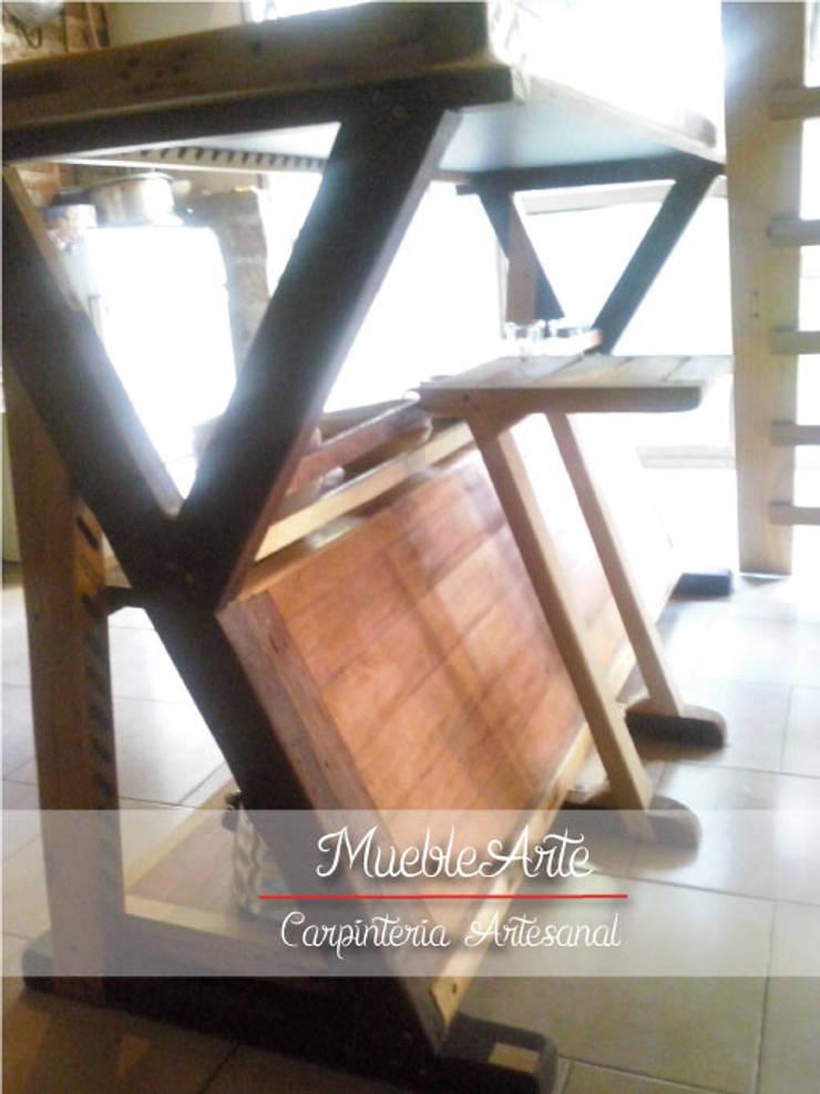 Mesada Rustica Artesanal:  de estilo  por MuebleArte,Rústico Madera maciza Multicolor