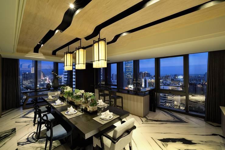 Dining room by POSAMO十邑設計