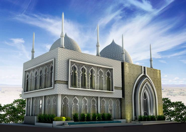 Masjid Kontemporer Modern ala Timur Tengah:   by zoelsitektur