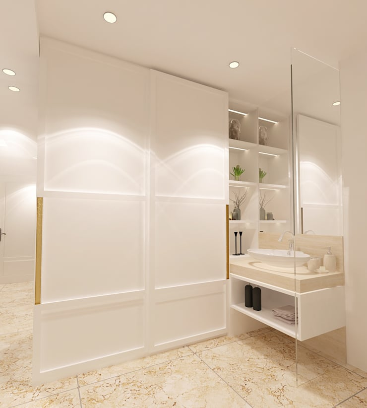 Studio Apartment - Art Deco:  Ruang Ganti by iugo design