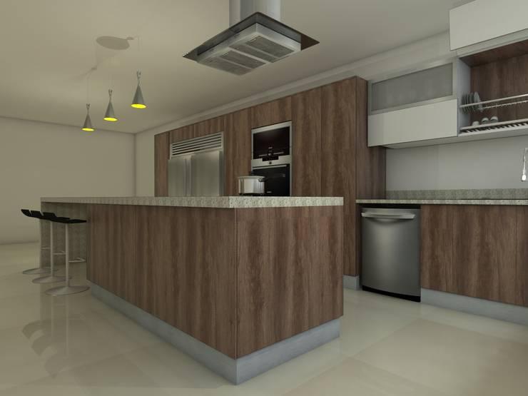 Diseño de Cocina, El Cafetal, Miranda:  de estilo  por Madea c.a.
