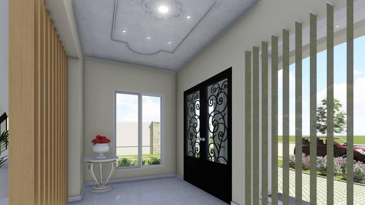 Vivienda Francesa Contemporanea: Pasillos y recibidores de estilo  por ARBOL Arquitectos