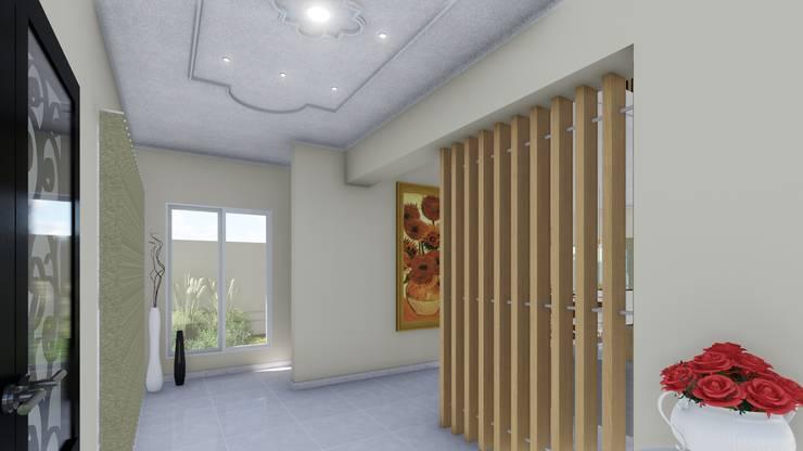 Vivienda Francesa Contemporanea: Pasillos y recibidores de estilo  por ARBOL Arquitectos ,
