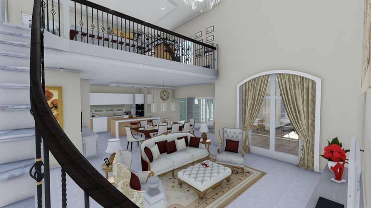 Vivienda Francesa Contemporanea: Livings de estilo  por ARBOL Arquitectos ,