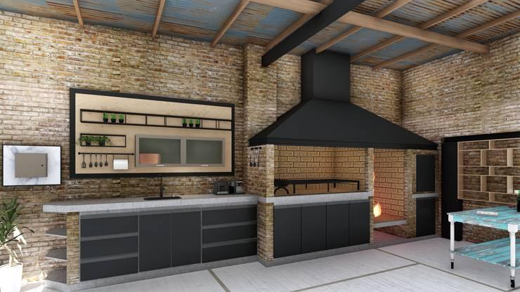Quincho loft industrial de arbol arquitectos homify for Cocina industrial tipo loft