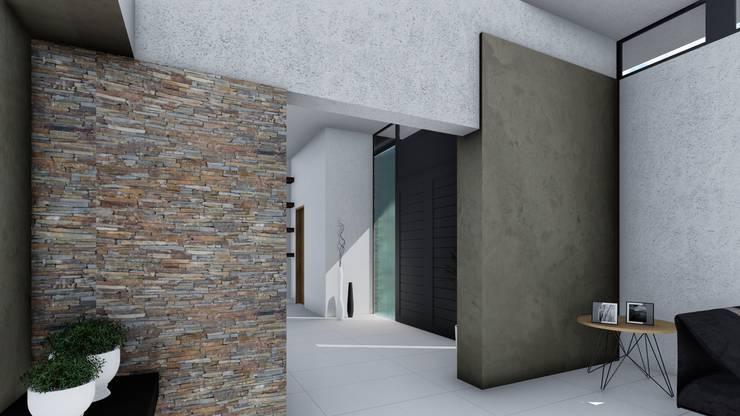 Vivienda Minimalista: Pasillos y recibidores de estilo  por ARBOL Arquitectos ,