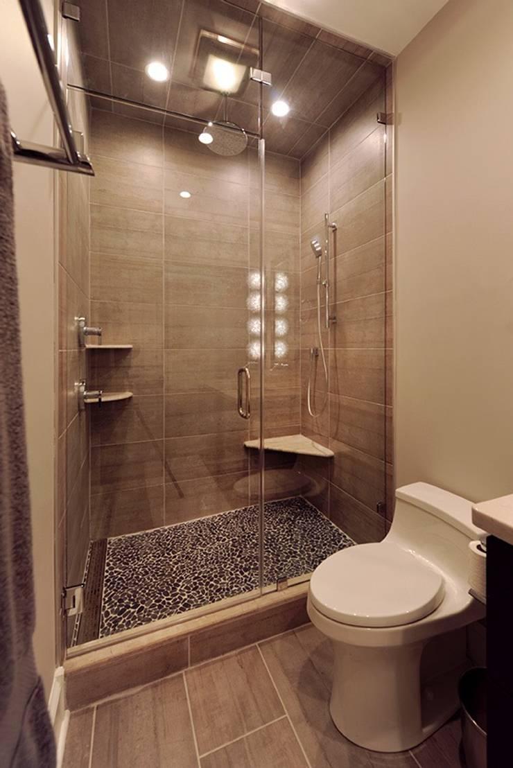 Modern Bathroom With Large Shower:  Bathroom by Olamar Interiors, LLC