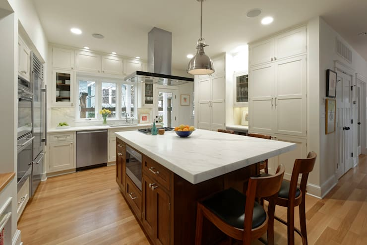 Stylish First-Floor Bungalow Renovation in Arlington, VA : minimalistic Kitchen by BOWA - Design Build Experts
