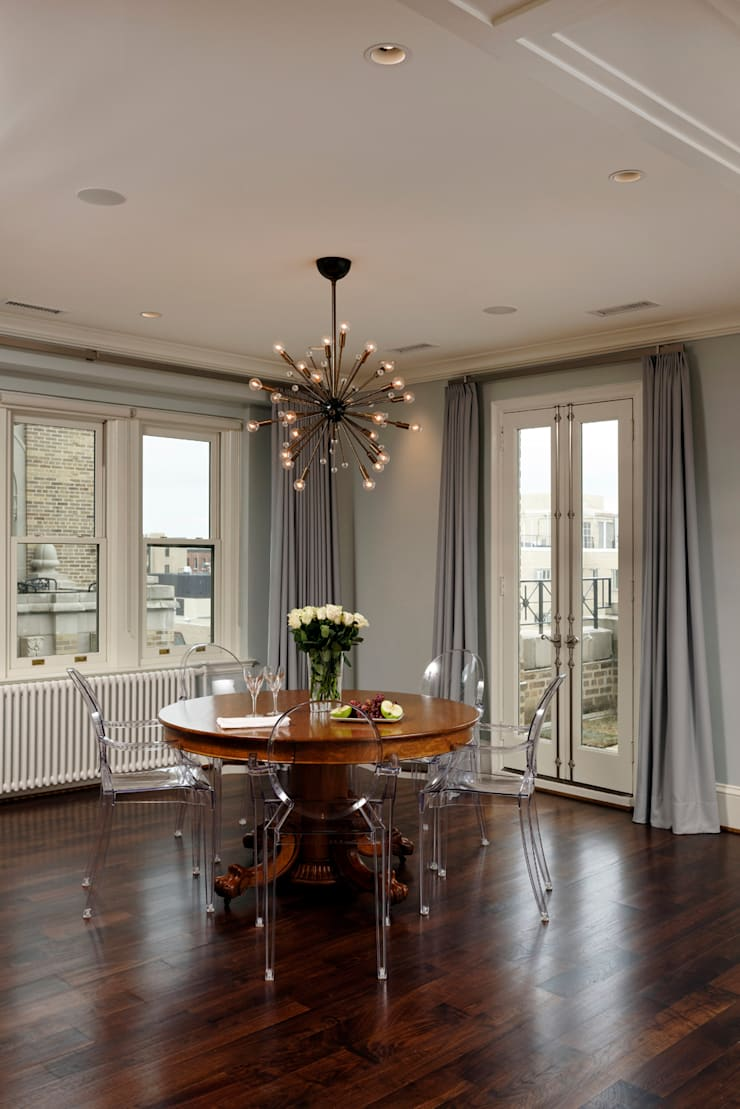 Luxury Kalorama Condo Renovation in Washington DC: minimalistic Dining room by BOWA - Design Build Experts