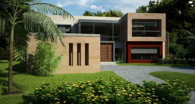 MODERNA: Casas de estilo  por LLACAY arquitectos,