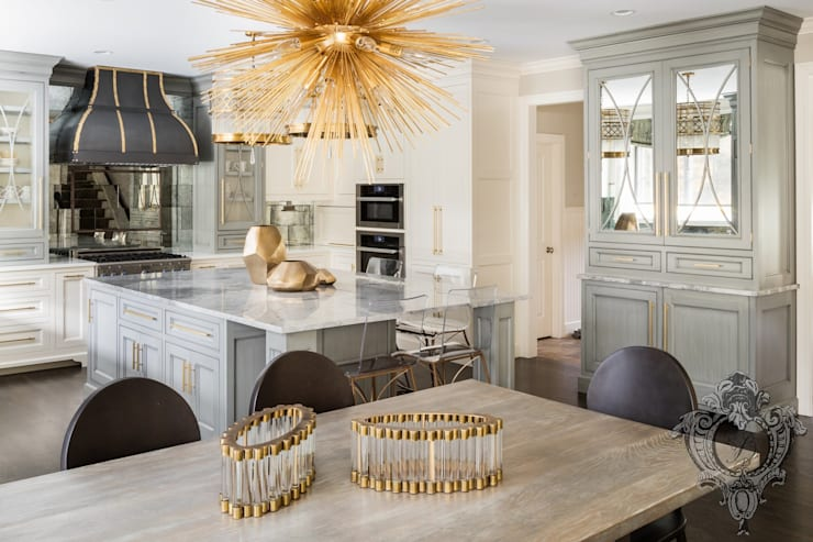 Dash of Gold:  Kitchen by Kellie Burke Interiors