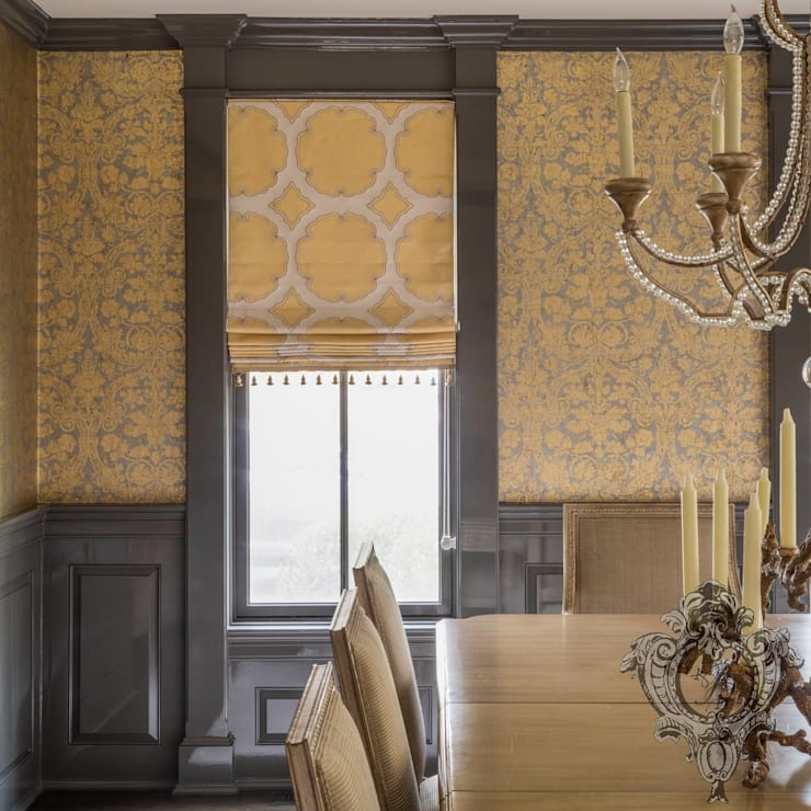 Dash of Gold:  Dining room by Kellie Burke Interiors