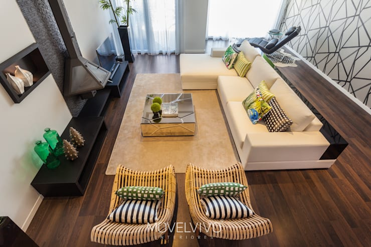 mediterranean Living room by Movelvivo Interiores