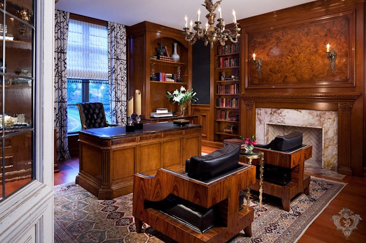 Office:  Study/office by Kellie Burke Interiors