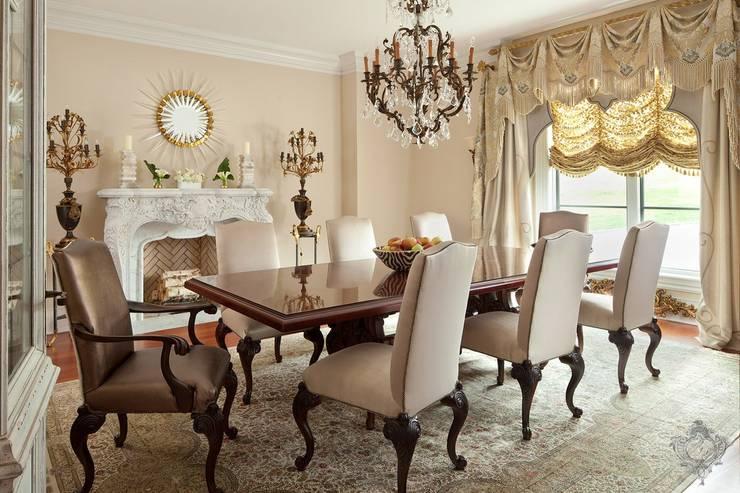 غرفة السفرة تنفيذ Kellie Burke Interiors