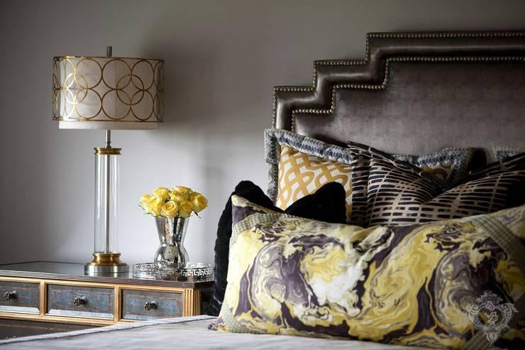 غرفة نوم تنفيذ Kellie Burke Interiors