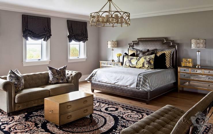 Guest Room:  Bedroom by Kellie Burke Interiors