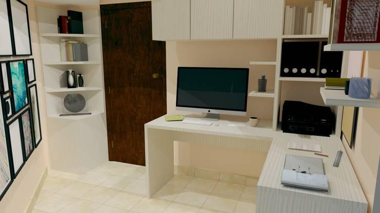 Render - ESTUDIO EN CASA: Estudio de estilo  por ArqSketch Studio
