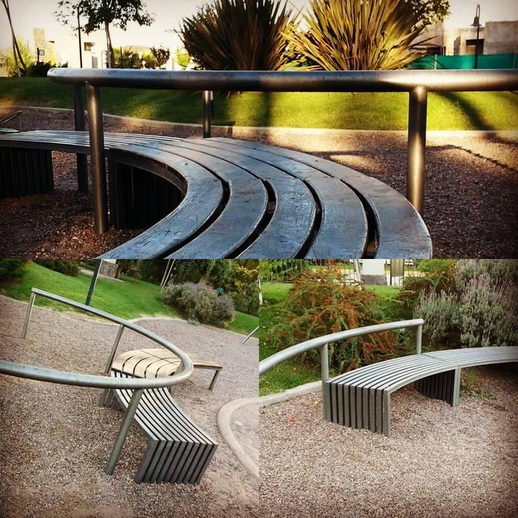 Mobiliario urbano : Jardines de estilo  por Estudio Karduner Arquitectura,