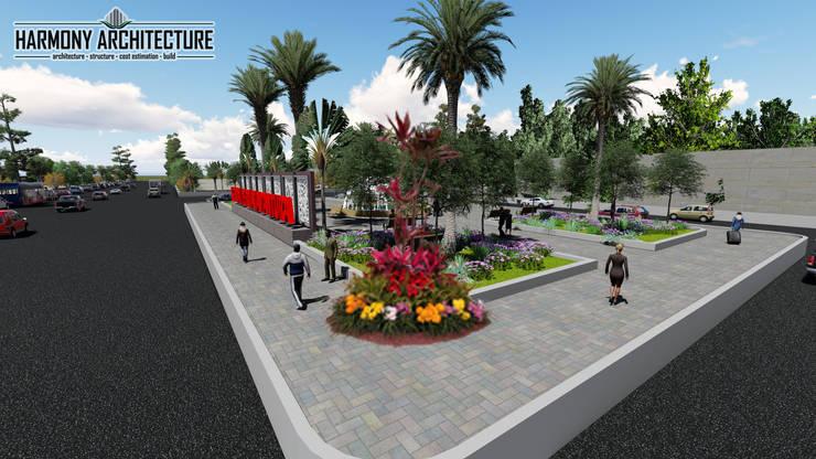 Taman Kota:   by Harmony Architecture