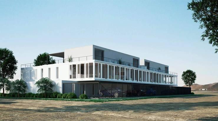 Lobos del Sur Casas modernas: Ideas, diseños y decoración de ARCHITECTS Moderno Concreto