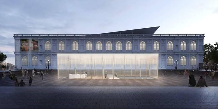 Concurso Museo Arte Contemporáneo: Salas / recibidores de estilo  por ARCHITECTS, Minimalista Vidrio