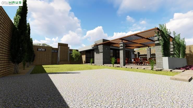 Perspectiva : Casas de estilo moderno por OmaHaus Arquitectos