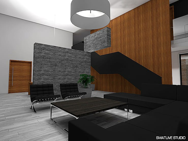 Casa Bravo – García, Ovalle, Chile: Livings de estilo  por Smartlive Studio