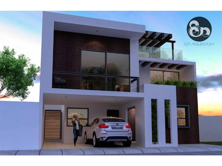 Fachada Principal: Casas de estilo  por ECNarquitectura