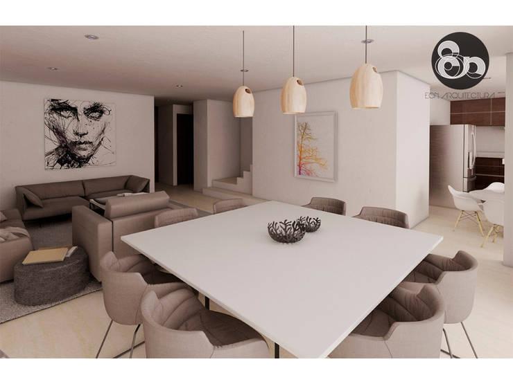 Sala y Comedor: Comedores de estilo  por ECNarquitectura