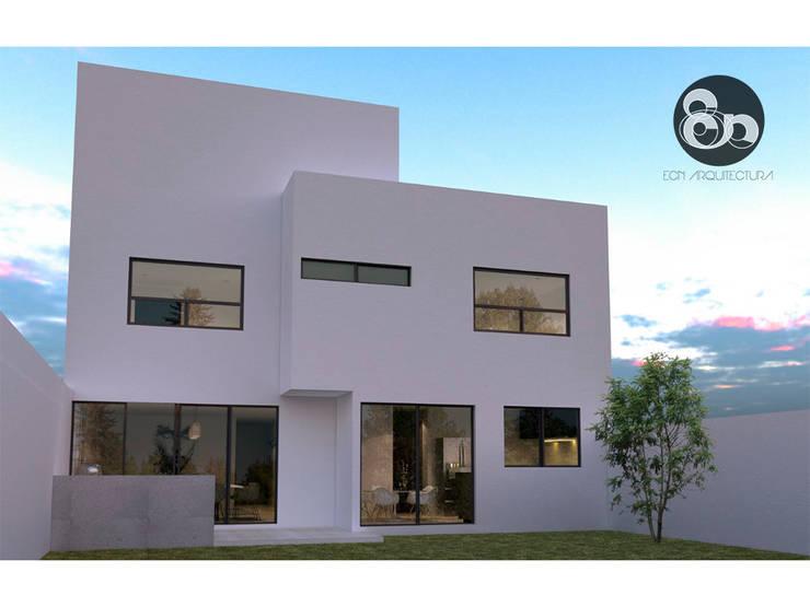 Fachada trasera: Casas de estilo  por ECNarquitectura