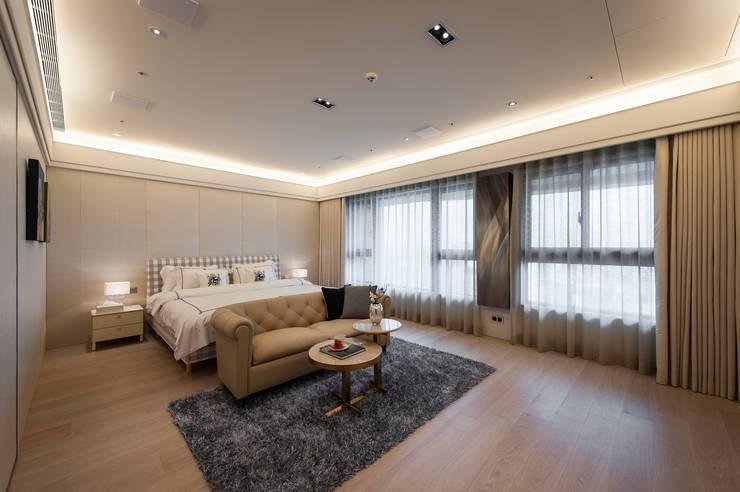NO.23 W宅:  臥室 by 汎羽空間設計