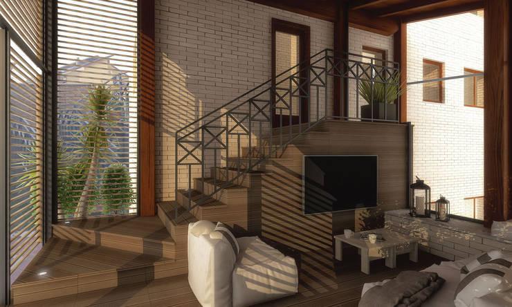 根據 Architetto Luigia Pace 現代風 木頭 Wood effect
