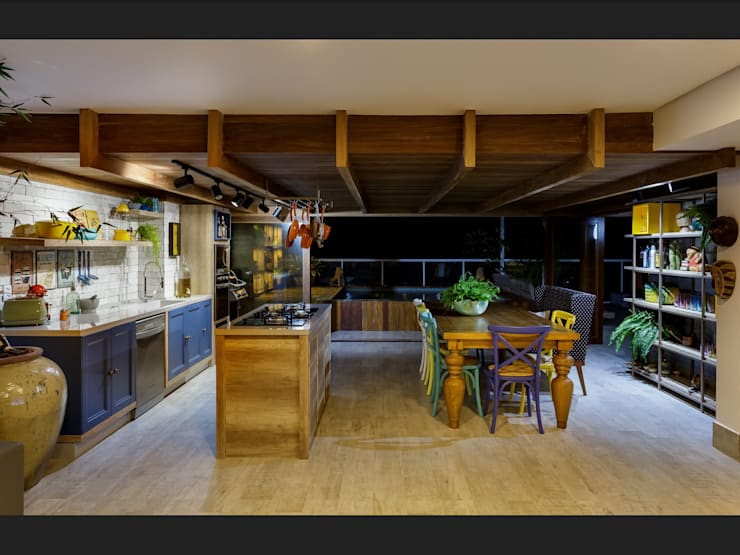 مطبخ تنفيذ Montenegro Arquitetura